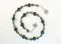 Kamboba and Black Onyx Sterling Silver Necklace