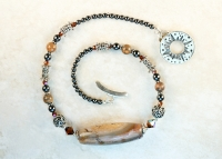 Fancy Agate Sterling Silver Necklace
